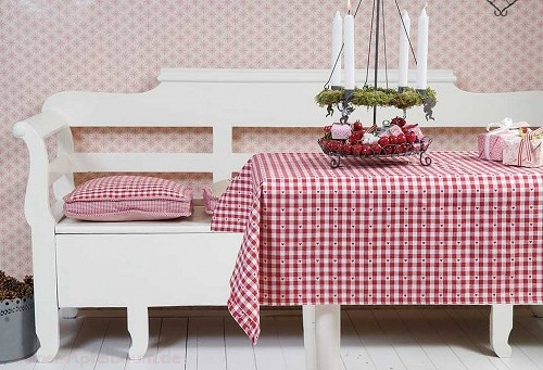kleine tischdecke rot weiss jetzt kaufen bei kleiner. Black Bedroom Furniture Sets. Home Design Ideas