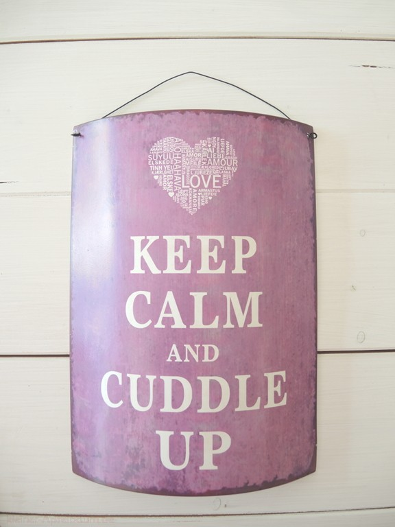 Metallschild Keep Calm And Cuddle Up