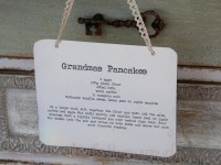 Chic Antique Blechschild Grandmas pancakes