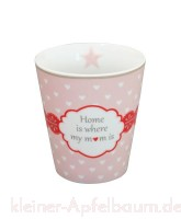 Krasilnikoff Happy Mug Becher Home is where my mom is