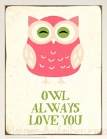 Metallschild Owl always love you