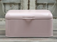 Chic Antique Emaille Aufbewahrungsbox / Brotdose rosa -SALE-