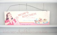 Nostalgisches Blechschild Mom's Kitchen