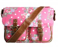 Canvas Satteltasche Flowers & Dots