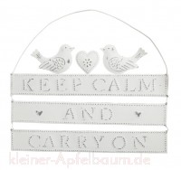 Metallschild keep calm and carry on -SALE-