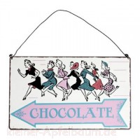 Metall Schild Chocolate