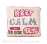 Kissenhülle Keep Calm and Drink Tea -SALE-